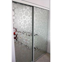 Film aspect verre dépoli pour Miroir, porte de placard - Design 45