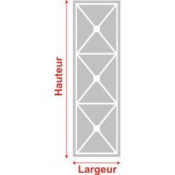 Film aspect verre dépoli pour Miroir, porte de placard - Design 46