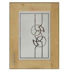 Film aspect verre dépoli pour Miroir, porte de placard - Design 47