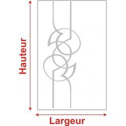 Film aspect verre dépoli pour Miroir, porte de placard - Design 48
