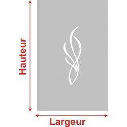 Film aspect verre dépoli pour Miroir, porte de placard - Design 49