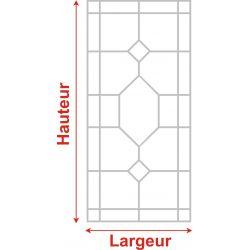 Film aspect verre dépoli pour Miroir, porte de placard - Design 50