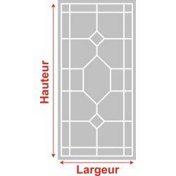 Film aspect verre dépoli pour Miroir, porte de placard - Design 51