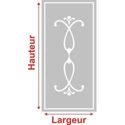 Film aspect verre dépoli pour Miroir, porte de placard - Design 53