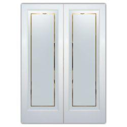 Film aspect verre dépoli pour Miroir, porte de placard - Design 57