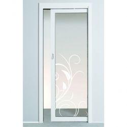 Film aspect verre dépoli pour Porte vitrée - Design 60