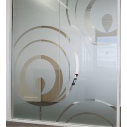 Film aspect verre dépoli pour Baie vitrée - Design 84