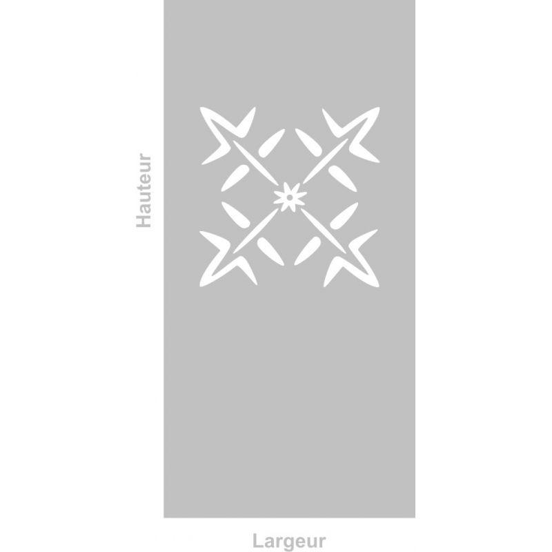 Film adhésif aspect verre dépoli sur mesure pour Vitre Design 272