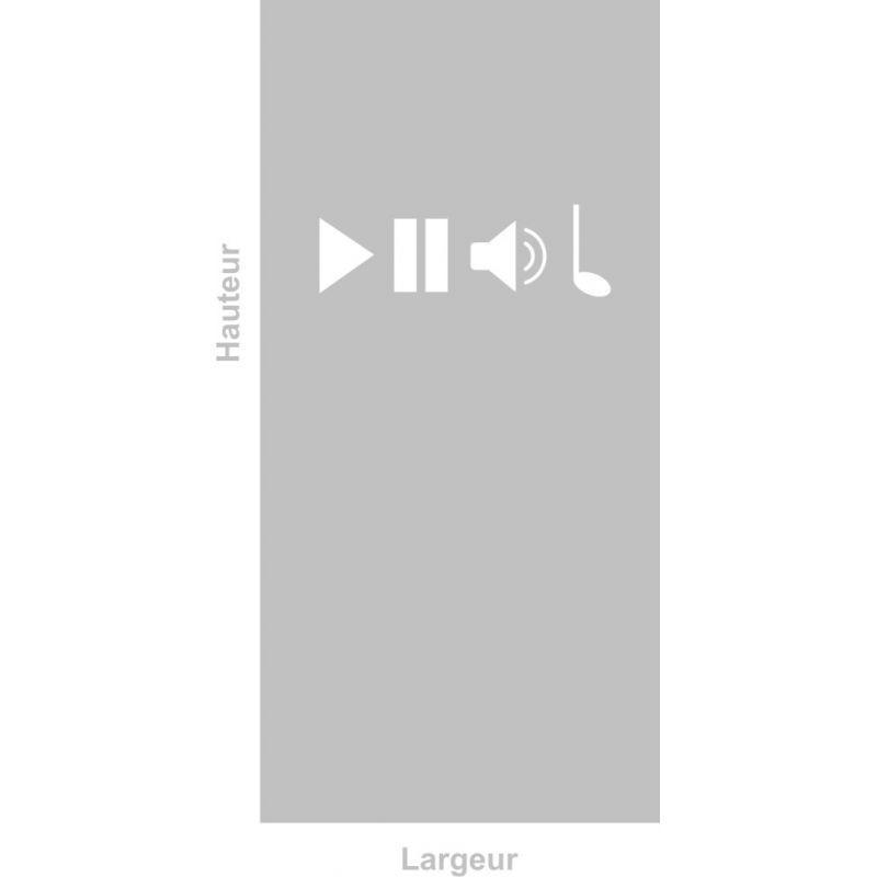 Film adhésif aspect verre dépoli sur mesure pour Vitre Design 286