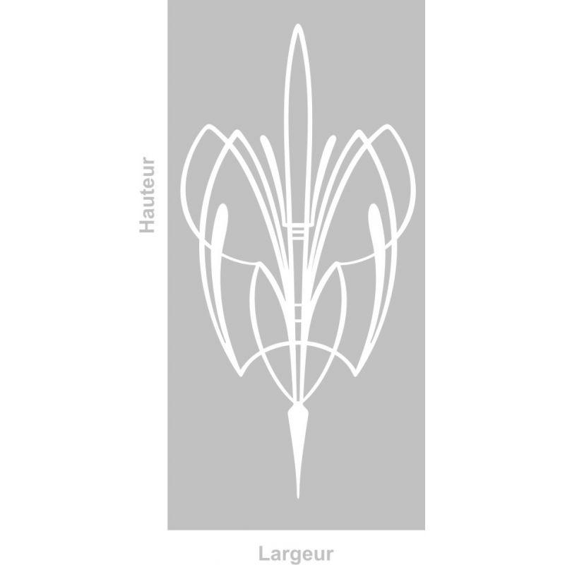 Film adhésif aspect verre dépoli sur mesure pour Vitre Design 296