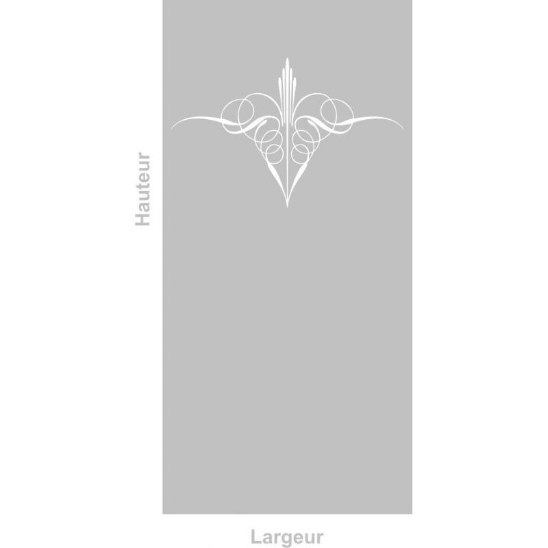 Film adhésif aspect verre dépoli sur mesure pour Vitre Design 301