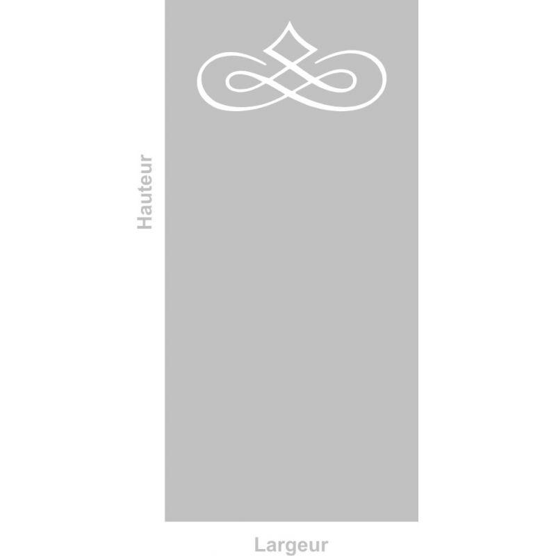 Film adhésif aspect verre dépoli sur mesure pour Vitre Design 303