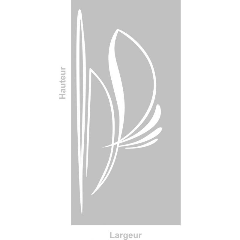 Film adhésif aspect verre dépoli sur mesure pour Vitre Design 304