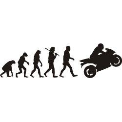 Évolution de l'homme et la moto sportive - Sticker autocollant