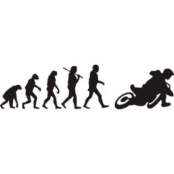 Evolution de l'homme et du Supermotard - Sticker autocollant