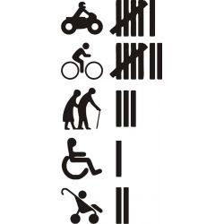 Accident moto, velo, vieux, handicapés et poussette bébé - Sticker autocollant