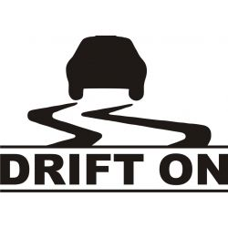 Voiture Drift On - Sticker autocollant