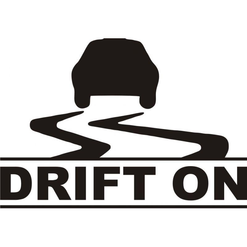Voiture Drift On - Sticker autocollant