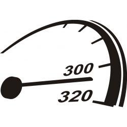 310km/h auto moto - Sticker autocollant