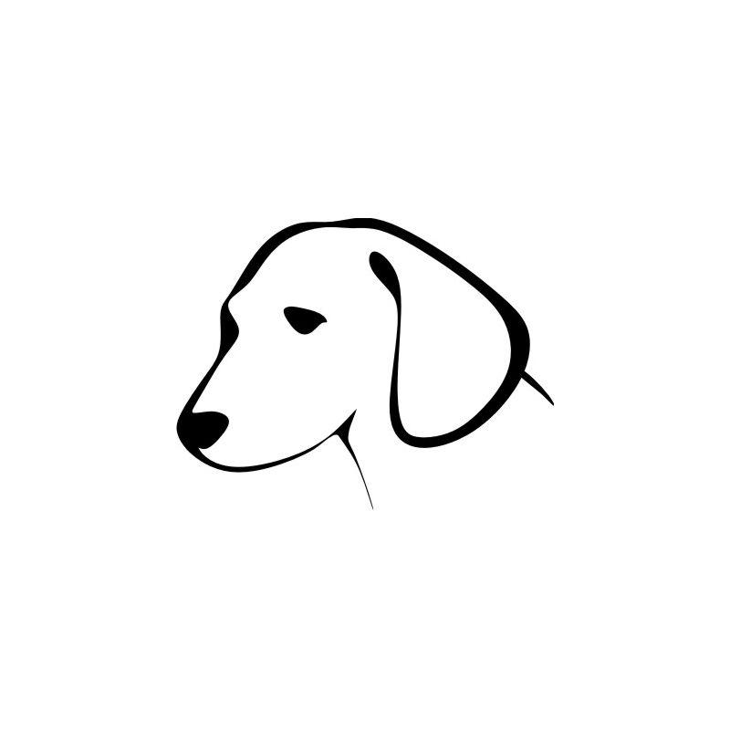 Dessin tete de chien sticker autocollant - Dessin tete de chien ...