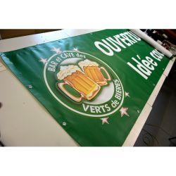 banderole les verts de bières à saint Étienne