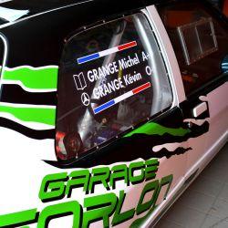 Autocollant Nom Pilote et copilote Rallye pour vitre