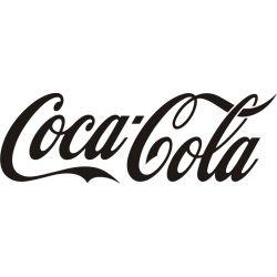 Lettrage Coca Cola adhésif découpé