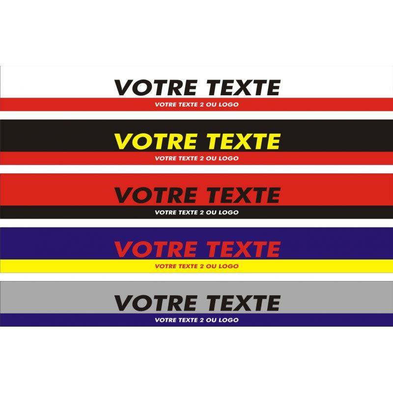 Bandeau pare soleil Racing 2 coloris pour pare brise personnalisable