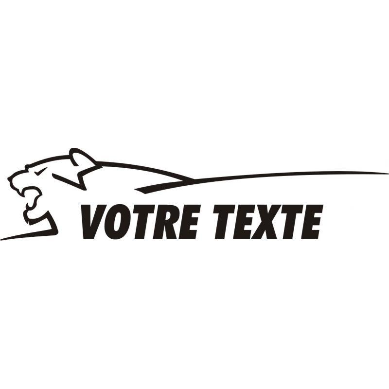 Texte personnalisable avec tête de lion style Peugeot - Côté 1