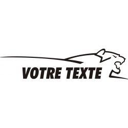Texte personnalisable avec tête de lion style Peugeot - Côté 2