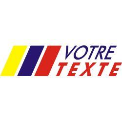 Texte personnalisable logo style Peugeot