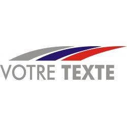 Texte personnalisable avec flammes style Peugeot Sport