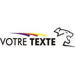 Autocollant pour Peugeot Sport avec texte perso - Côté 2