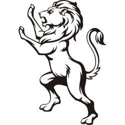 Autocollant Lion debout - profil - Coloris et taille au choix