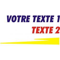 Texte personnalisable 2 style Peugeot Sport