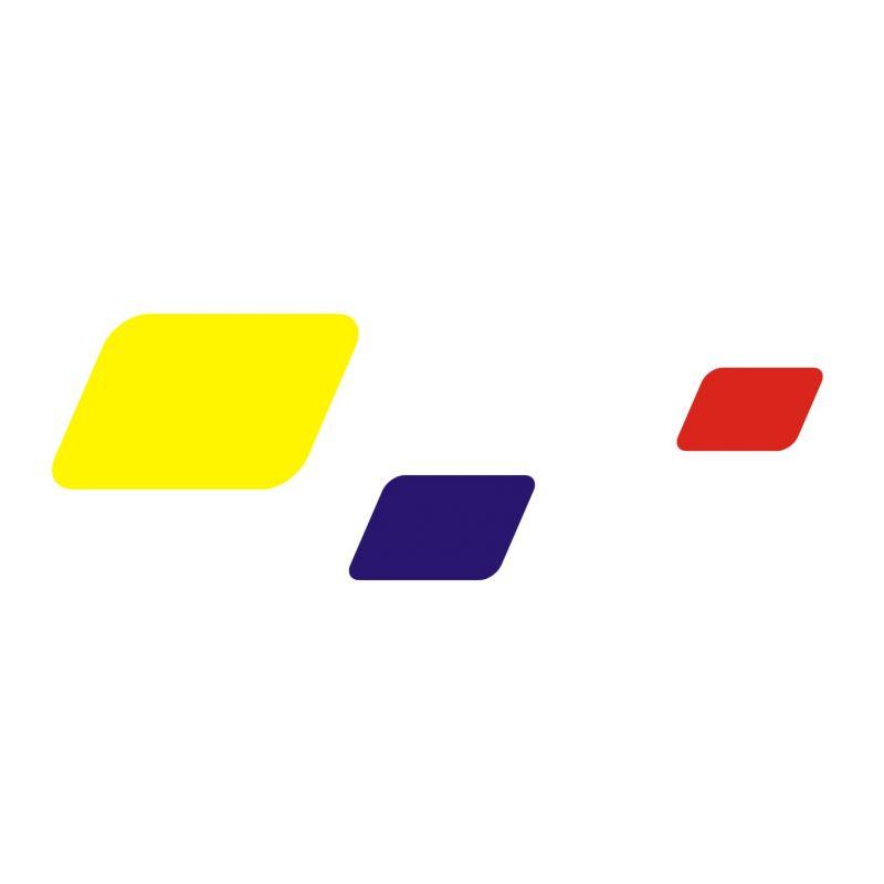 Adhésif 2 aux couleurs de Peugeot Sport pour vitres ou carrosserie
