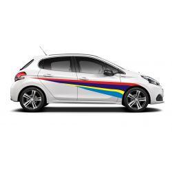 Kit déco adhésif pour les 2 côtés de voitures Peugeot (couleurs)