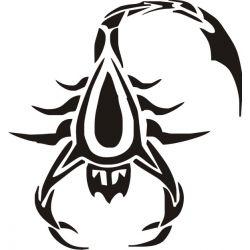 Autocollant Scorpion 2 pour carrosserie ou vitres de voitures