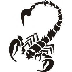Autocollant Scorpion 7 pour carrosserie ou vitres de voitures