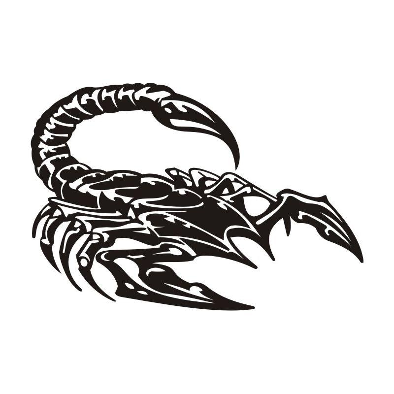 Autocollant Scorpion 8 pour carrosserie ou vitres de voitures