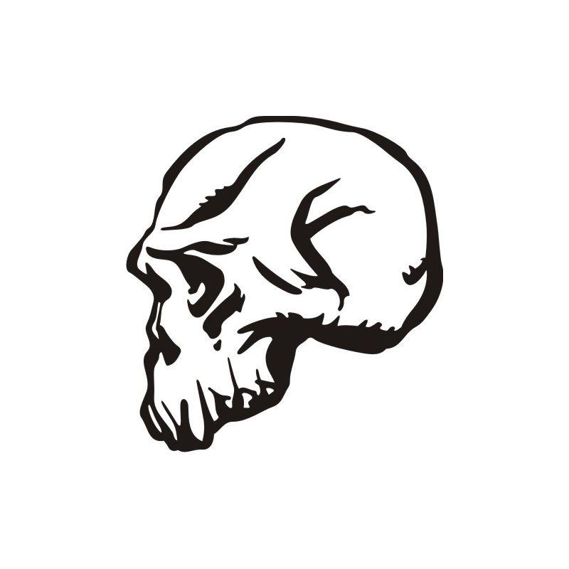Autocollant Crâne 6 pour carrosserie ou vitres de voitures