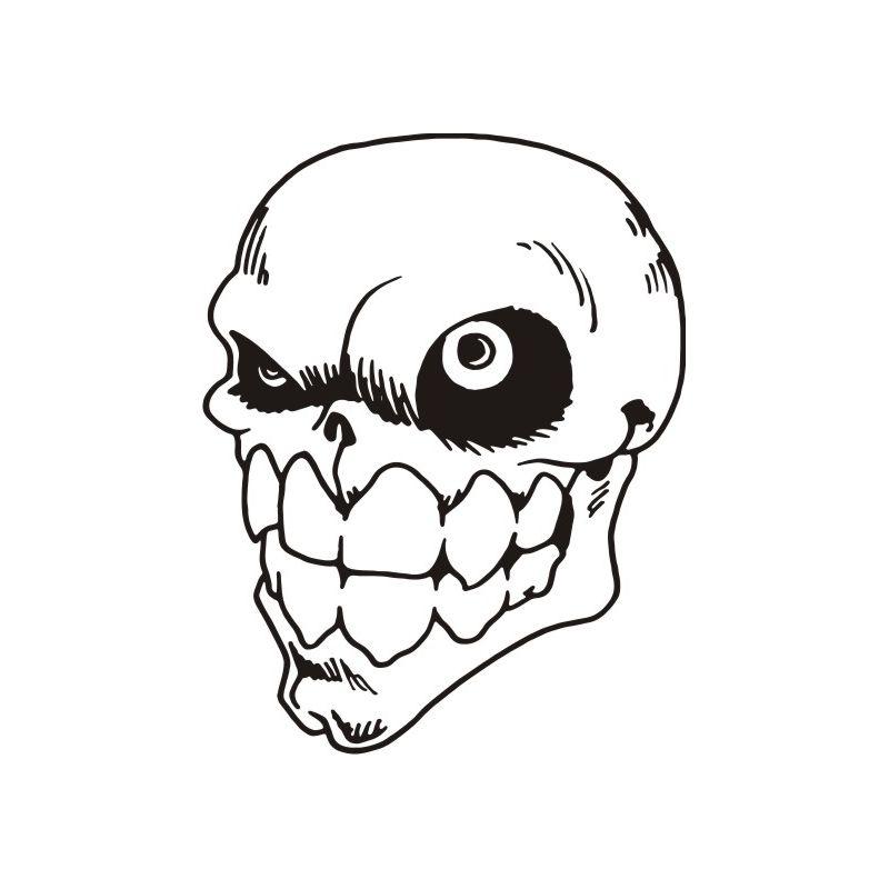 Autocollant Crâne 10 pour carrosserie ou vitres de voitures