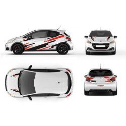 Kit déco rallye - Autocollants pour voiture (toutes marques) personnalisable