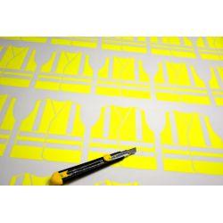 découpe stickers gilets jaunes fluo
