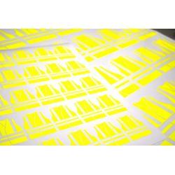 autocollants gilets jaunes fluo