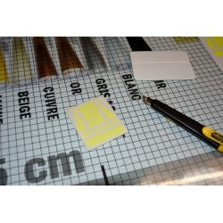 sticker gilet jaune fluo avec papier applicateur