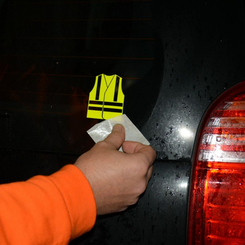 autocollant gilet jaune fluo voiture