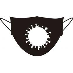masque anti coronavirus en adhésif
