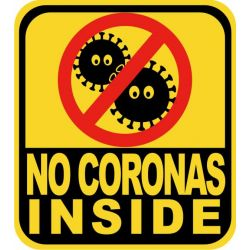stickers no coronavirus