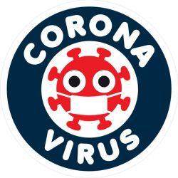 autocollant corona virus